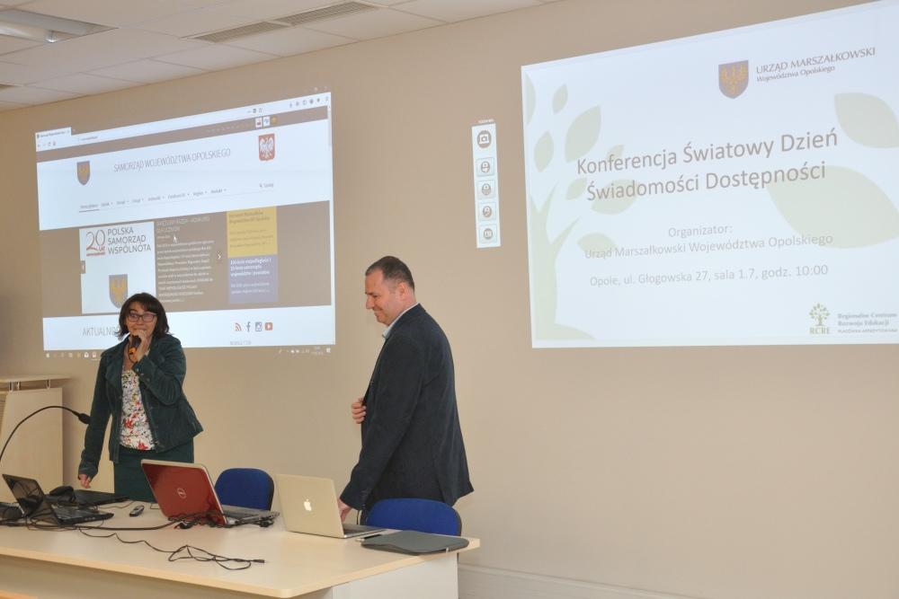 Pierwsza konferencja GAAD w Opolu, Ewa Zadrożna, Jacek Zadrożny