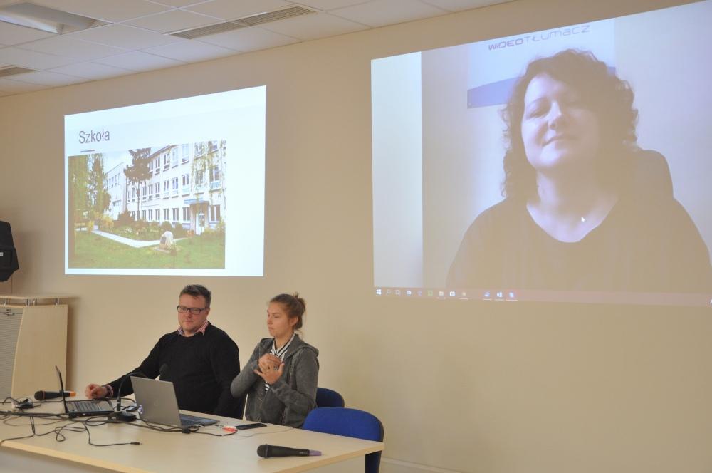 Pierwsza konferencja GAAD w Opolu, 17 maja 2018 r., Katarzyna Mucha, Piotr Kowalski, Polski Związek Głuchych Oddział Łódzki